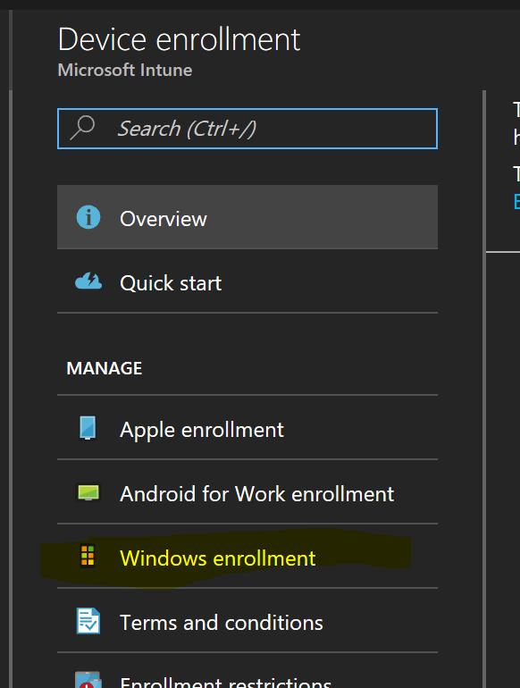 windows enrollment