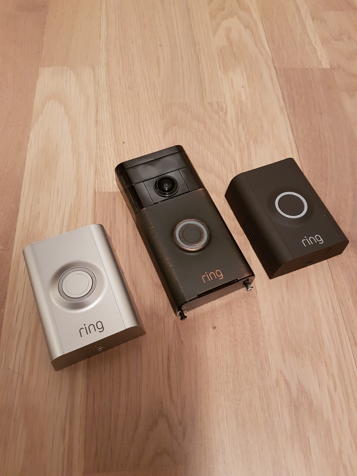 Ring video doorbell v1 and version 2 faceplates