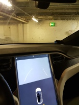 Tesla rear view camera