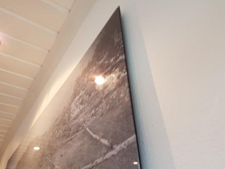 Bildet er printet rett på aluminium
